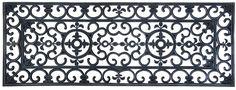 Esschert Design Schmutzfangmatte, Fußmatte in schwarz aus Gummi, rechteckig, Größe XL, extra breit, ca. 120 cm x 45 cm: Amazon.de: Garten