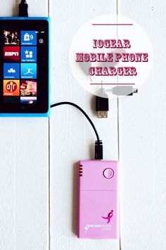 IOGEAR Mobile Phone Charging Device - for charging your phone when you aren't near an outlet. giveaway going on now