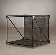 1920s French Metal Side Table   Side & Item Tables   Restoration Hardware