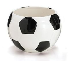 Soccer Ball Planter/Container For Home Decor,Events And Sports Enthusuast by Burton & Burton, http://www.amazon.com/dp/B002H981WG/ref=cm_sw_r_pi_dp_QBAdqb1GFEWW3
