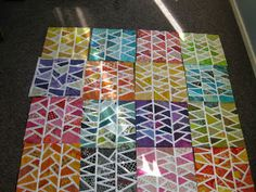 Herringbone block Michigan modern quilt guild