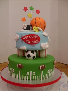 sport baby cake for my nephew blakeu0027s baby shower
