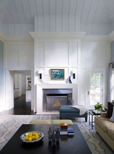 Staggering Unique Ideas: Living Room Remodel Before And After Crown Moldings living room remodel ideas benjamin moore.Living Room Remodel With Fireplace Mantels living room remodel with fireplace rugs.Living Room Remodel Before And After Inspiration. Home Fireplace, Fireplace Remodel, Fireplace Surrounds, Fireplace Design, Fireplaces, Simple Fireplace, Fireplace Ideas, White Wood Paneling, Painting Wood Paneling