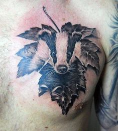 Top Honey Badger Face Tattoo Tattoo's in Lists for Pinterest