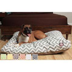 "Chevron Rectangle Dog Bed   Overstock.com. Medium: 5"" h x 44"" w x 36"" d. Large: 5"" h x 50"" w x 42"" d"