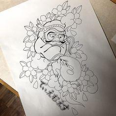チャリティーTシャツのデザインです 近々作りたいと思っています 出来上がり次第また載せさせて頂きます #tattoo #tattoos #tatted #tattooed #japanesetattoo #japaneseirezumi #wabori by kyoshin_tattoo