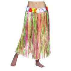 Hawaiian Hula Skirt Multi Coloured Ladies Fancy Dress One Size,£4.50