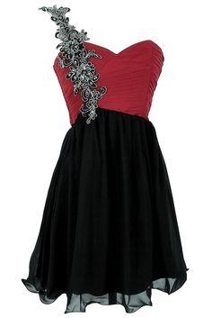 Black and Berry Vine Embellished Designer Dress