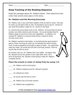 sequence of events worksheets story sequence of events 2nd grade ...
