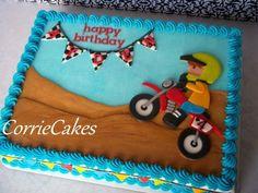 Motorbike Kids Cake