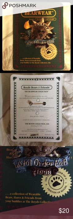 BOGO Boyd's Bears Bearwear Libearty pin NWT. Packaging has wear, see pics. Pin has no flaws that I can see. Boyd's bears Libearty pin  B1 Bearwear Jewelry Brooches