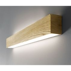 For Bathroom Mirrors Beacon - LEDlux Nord LED Up/Down Long Wall Bracket in Teak