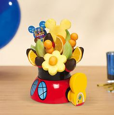 Mickey Mouse Clubhouse Party Bouquet with dipped strawberries! Edible Arrangements