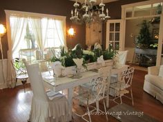 Wrought iron french dining room.
