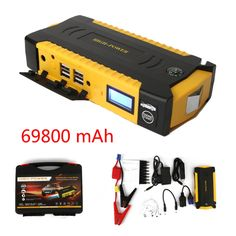 62.98$  Buy now - http://ali3yj.worldwells.pw/go.php?t=32733728119 - New High Capacity 69800mAh 12V Multifunction Car Jump Starter 4USB Power Bank Compass SOS Lights 600A Peak Car Charger s-CS007