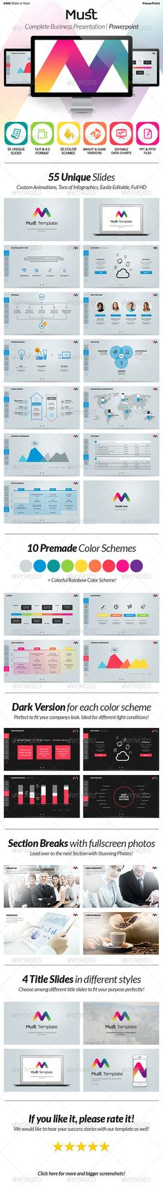 Must PowerPoint - Complete Business Presentation - Powerpoint Templates Presentation Templates