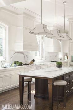 White Kitchen with Marble. Thomas Hamel.