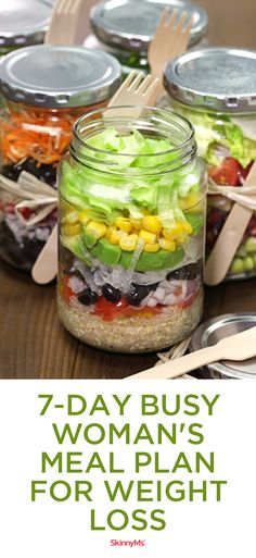 7-Day Busy Woman's Meal Plan for Weight Loss