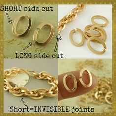 New RUGGED Solid Brass Oval Jump Rings  - 25 Handmade From Square Wire - Short Side Cut - 14 gauge 8mm X 4.5mm ID. $ 26.00, via Etsy.