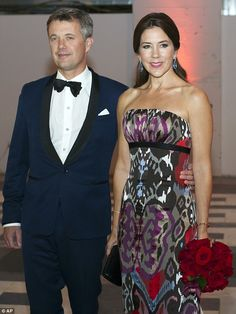 Belle of the ball: Crown Princess Mary attended a gala ball in the US with her husband Cro...