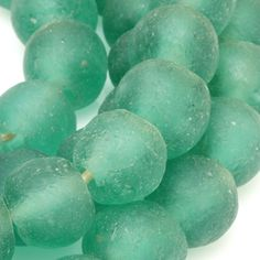 Recycled glass beads made by the Krobo people of Ghana in West Africa