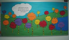 Welcome Back Bulletin Board-change to Oh! The places you'll go! All the things you will do! Oh! The things you'll learn All in Grade 2!