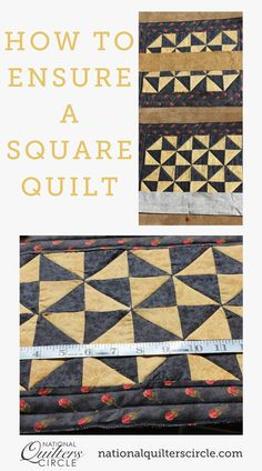 """Do you want a """"square quilt""""? That is not to say that your quilt is literally a square shape (unless of course you want it to be a square shape); what this means is that your quilt will lie perfectly flat with no puckers, tucks, or unwanted pleating after it has been quilted. So how do you achieve this? Here are some helpful hints. Quilting Tips, Quilting Tutorials, Natural Health Tips, Types Of Embroidery, Easy Quilts, Some Ideas, Square Quilt, Vintage Prints"""
