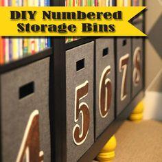{organizing with style} DIY Numbered Storage Bins   Blue i Style