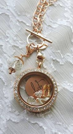 """I DO"" locket: rosegold with a medium inscribed plate with #charms on a #toggle chain"