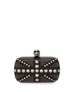 ummm...Studded Britannia Classic Skull Clutch Bag, Black by Alexander McQueen at Neiman Marcus.