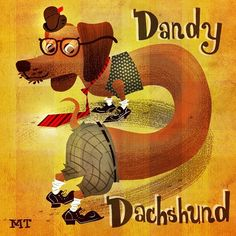 It's an adorable, dandy dachshund! Too cute! D Is For Dog, Dandy, Dachshund, Fun Stuff, About Me Blog, Photoshop, Cute, Instagram Posts, Movie Posters