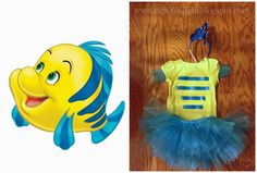 DIY Little Mermaid Flounder Costume www.cupofdelight.blogspot.com