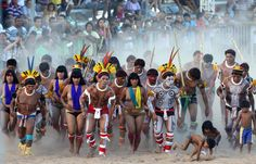 Games of the indigenous people in Brazil The XII Games of the Indigenous People in Cuiaba have begun, where 48 Brazilian indigenous tribes present their cultural rituals and compete in traditional sports such as archery, running with logs and canoeing. The event takes place from Nov 8 to Nov 16.