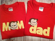 Curious George Birthday Parent Shirts/ by SimplySweetStitching, $36.00
