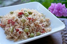 Mexican Rice with Fresh from the Garden Peas