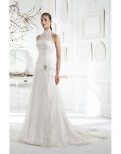 Col montant Classique & Intemporel Naturel Robes de mariée 2014