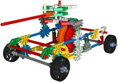 K'NEX tank Robotics Projects, Farm Toys, Lego Building, Lego Ideas, Craft Tutorials, Playground, Balloons, Bubbles, Construction