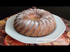Třená bábovka - videorecept Doughnut, Muffin, Make It Yourself, Breakfast, Desserts, Food, Youtube, Morning Coffee, Tailgate Desserts