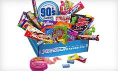 Decade Themed Candy Box Hometown Favorites via Groupon