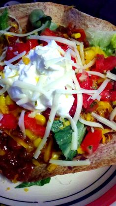 Oven baked taco bowls,
