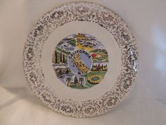 California Souvenir Plate American by PurveyorsOfFineJunk on Etsy