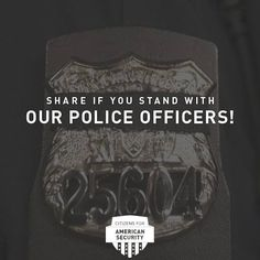 Facebook graphic for Citizens for American Security asking fans to share if they stand with police officers. Let our team bring branding, creative content and digital strategy to your campaign or cause. Learn more about how to work with Harris Media here: www.harrismediallc.com