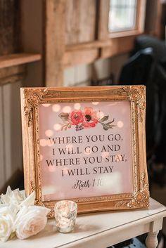 Romantic Floral Print Wedding Signs | Audrey Rose Photography | http://heyweddinglady.com/playful-elegant-southern-blush-wedding-floral-print/