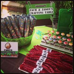 Minecraft & Video Games Birthday Party Ideas | Photo 8 of 33 | Catch My Party