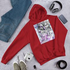 Everyone needs a go-to, cozy sweatshirt to curl up in, so go for one that's soft, smooth, and stylish. Rib Knit, Hooded Sweatshirts, Hoods, Owl, Athletic, Knitting, Stylish, Sweaters, Cotton