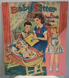 Vintage Baby Sitter Paper Dolls 1957   Saalfield 1707~~