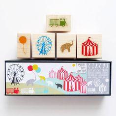 Circus Scenic Stamp Set