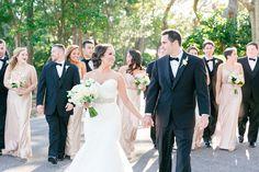 Black Tie + Champagne Sequined Dresses | Elegant Blush + Gold Wedding at The Dunes Club in Myrtle Beach by Charleston wedding photographer Dana Cubbage Weddings