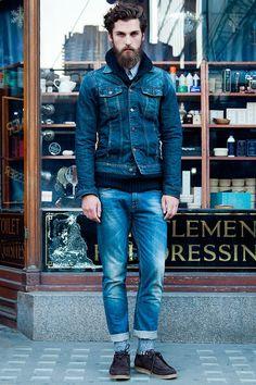 i love denim jackets on guys. like totally