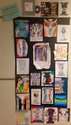 """Draw/Paint Lesson - """"Left Brain Right Brain: Turning the Technical into the Creative"""" - NGHS West Wing Room 406 Intro To Art, Sketchbook Assignments, Teaching Art, Teaching Ideas, Art Cart, Principles Of Art, High School Art, Art Lessons Elementary, Art Sites"""